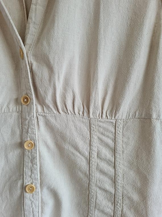 Minimal Buff Pocket Blouse