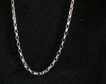 Lovely Vintage 9ct Heavy Faceted Gold Belcher Chain 22 inch