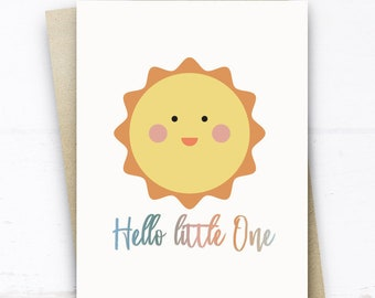 Welcome to the World Stork Baby Foil Greeting Card A Little Ray Of Sunshine
