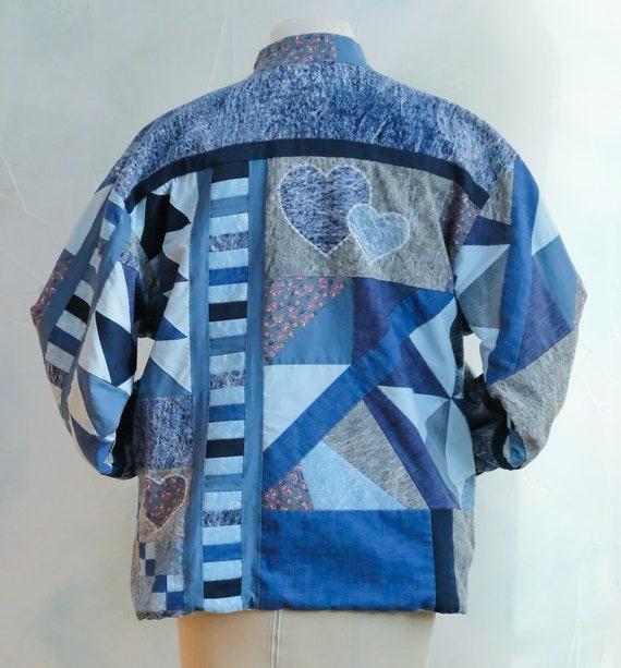 Patchwork Denim Jacket - image 7