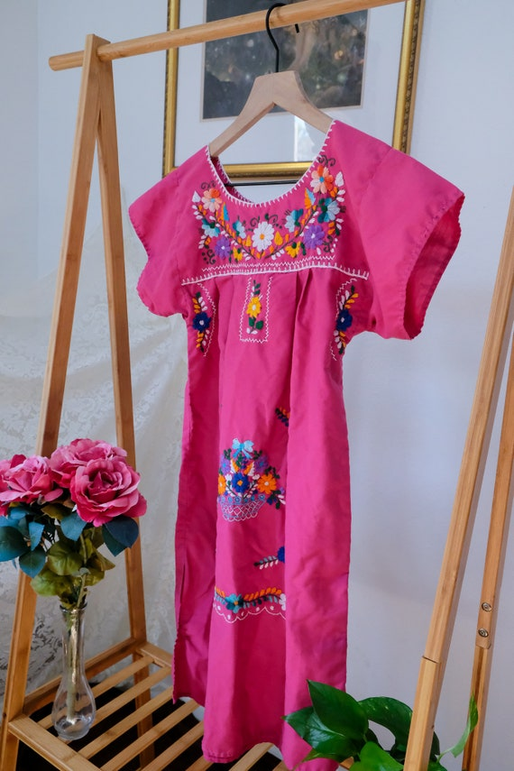 Embroidered Peasant Dress - image 8