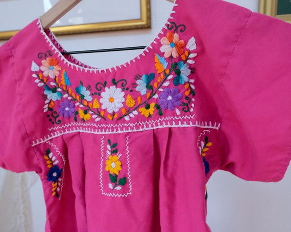 Embroidered Peasant Dress - image 2