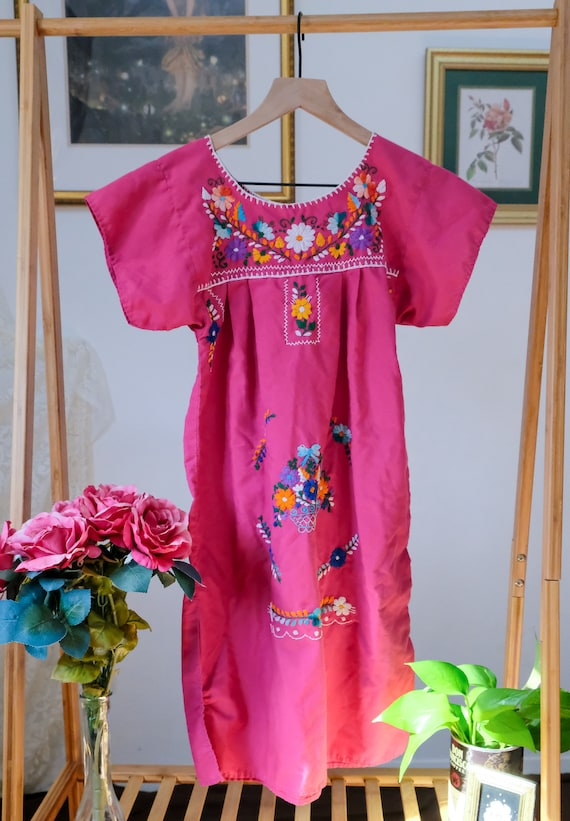 Embroidered Peasant Dress - image 3