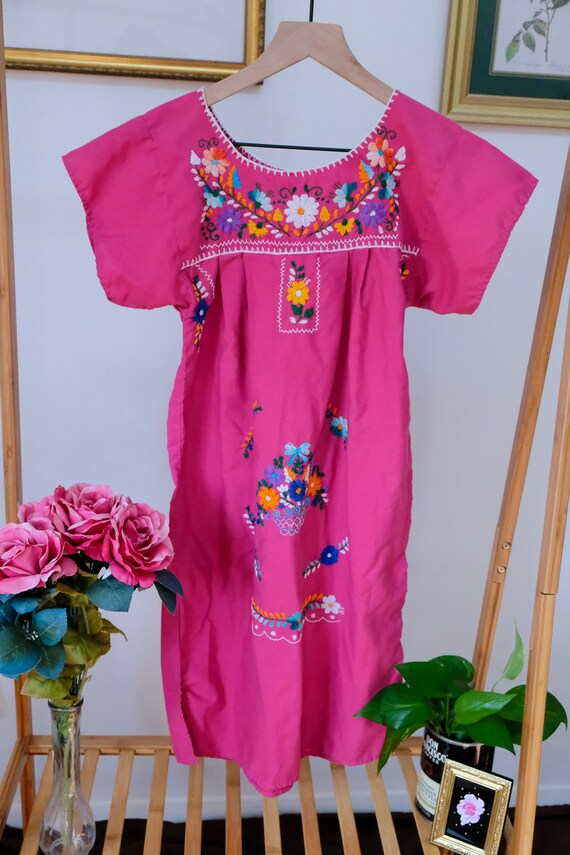 Embroidered Peasant Dress - image 6