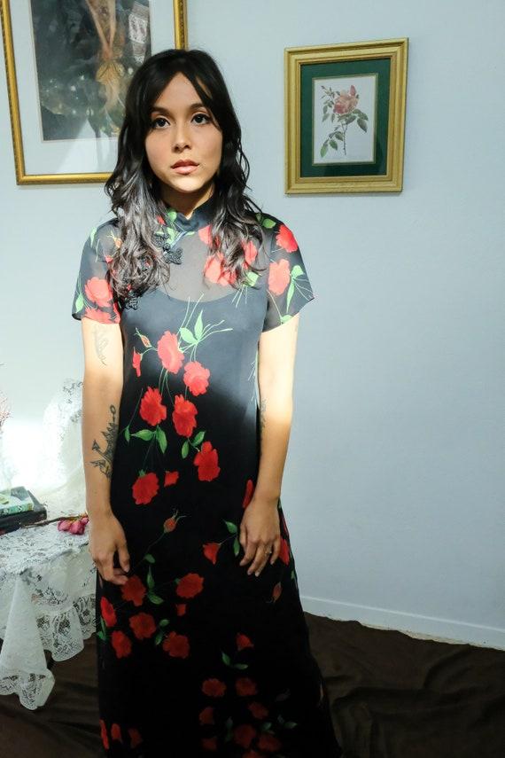 Cheongsam Rose Dress