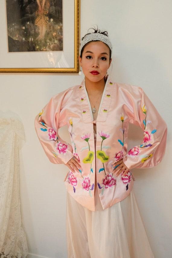 Pink Embroidered Kimono