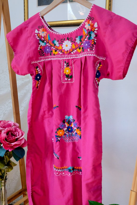 Embroidered Peasant Dress - image 5