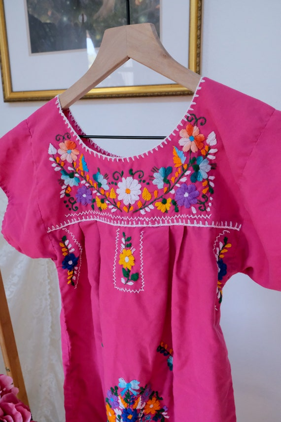 Embroidered Peasant Dress - image 7