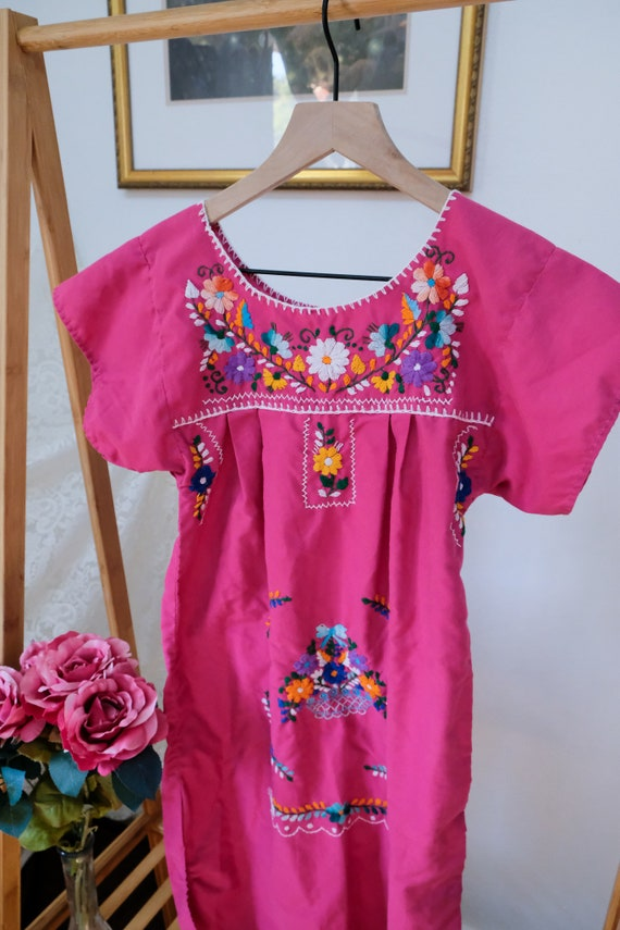 Embroidered Peasant Dress - image 4