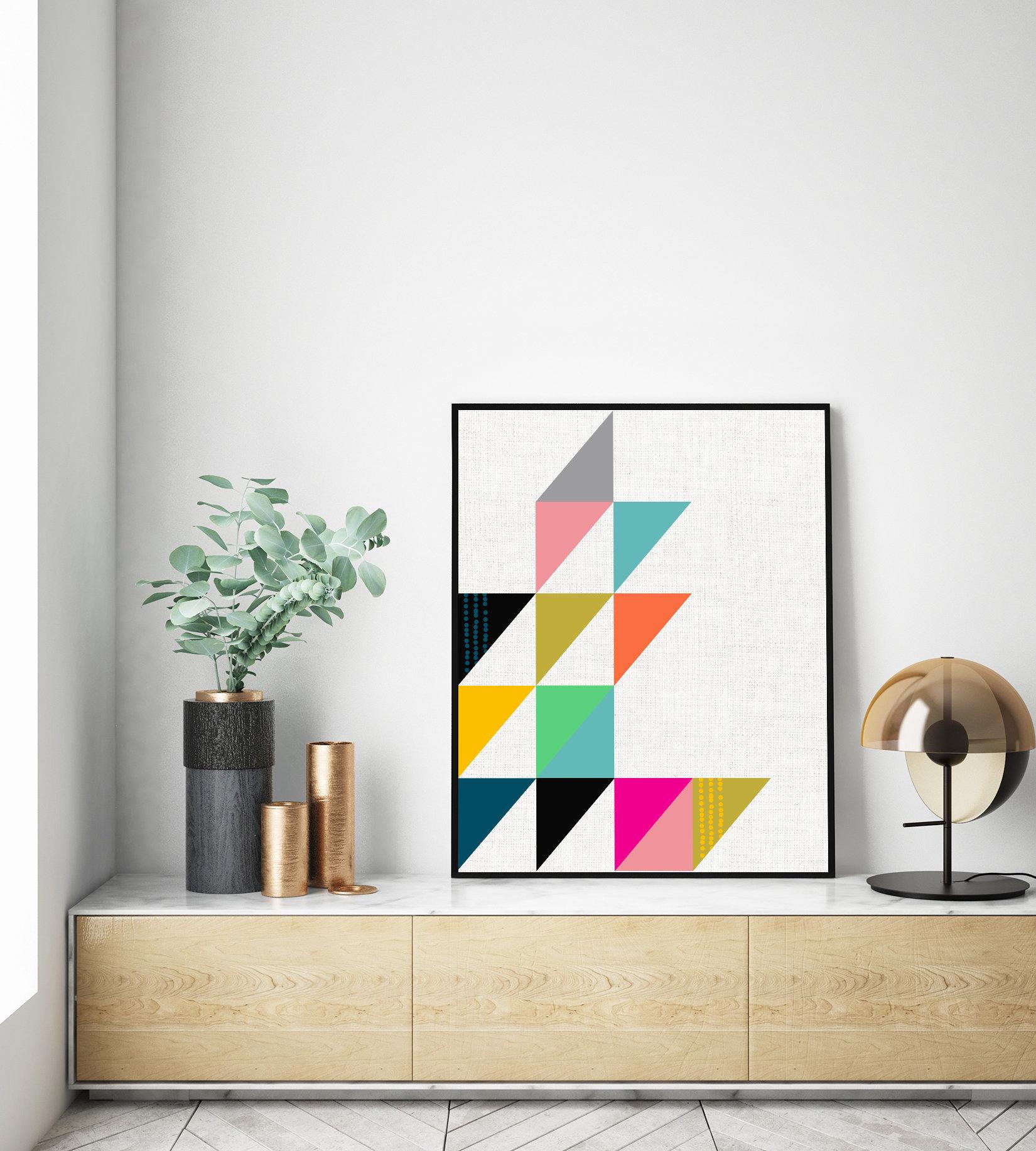 Modern Wall Art, Abstract Wall Art, Office Wall Art, Mid Century Modern  Art, Prints Wall Art, Minimalist Art, Printable Art, Geometric Print