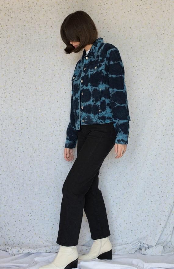 Vintage blue tie dye corduroy jacket - image 2