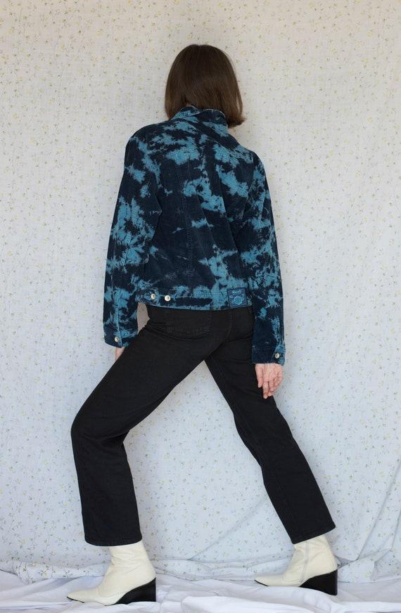 Vintage blue tie dye corduroy jacket - image 4
