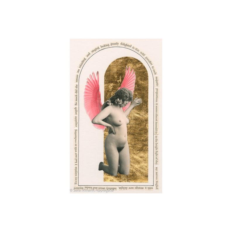 Vintage Nude Angel Collage Infinitely Sweet and image 1