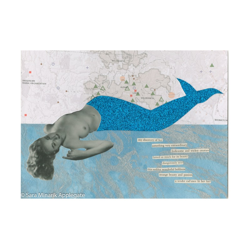 Nude Mermaid Collage Frolicsome and Tricksy image 1