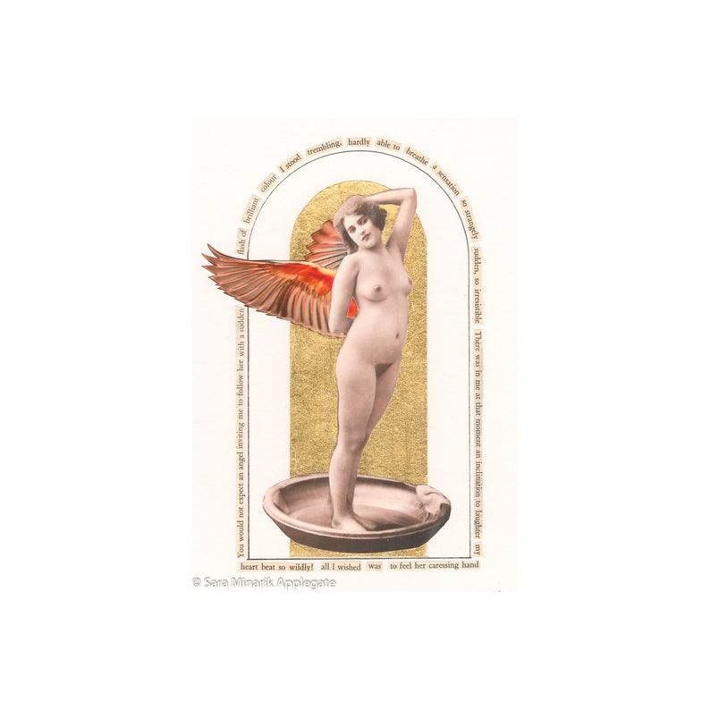 Vintage Nude Angel Collage Strangely Sudden  image 1