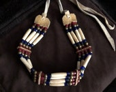 Vintage Native American Hairpipe Bone Choker Necklace