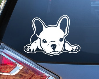Frenchie Life Heartbeat Vinyl Car Decal