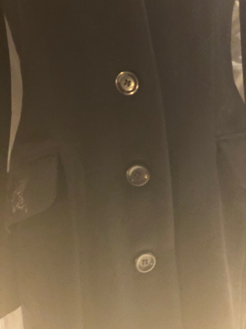 FIFTYPERCENTOFF checkout discount code black wool long coat with black sequin wings And stars size 10