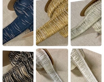 """1.75"""" High Quality Extra Thick Brush Fringe Trim Collection BRF-3/C 6 Variations Upholstery / Drapery / Pillows / Interior Design"""