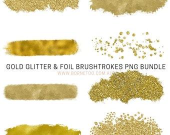 Gold Glitter & Foil PNG Graphics | Social Media Graphics | Clip Art | Canva