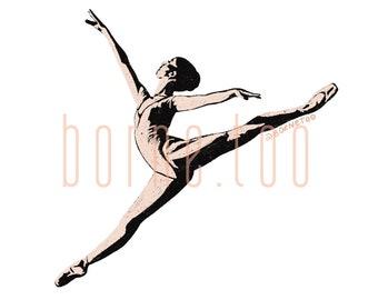 Ballerina | Digital Print | Minimalism Print | Ballet Art | Dancer Girl