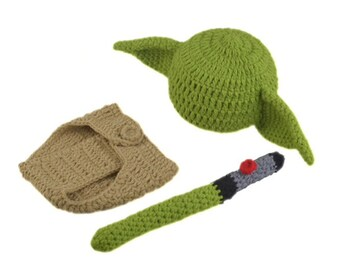 Baby Yoda Mandalorian Handmade Knitted Star War Outfit Costume Baby Cosplay New