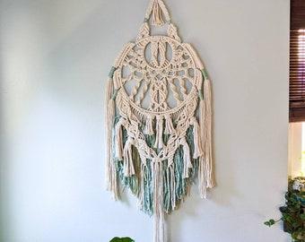 Macrame Mandala Wall Hanging, Bohemian Style Macrame, Boho Home Decor