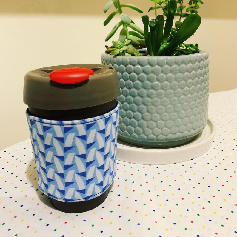 Cup Cozy  Blue on Blue image 0