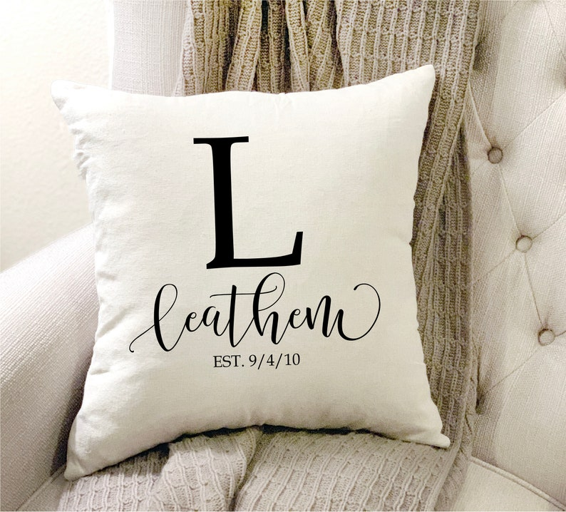 Last Name Pillow Initial Pillow Personalized Pillow Family image 0