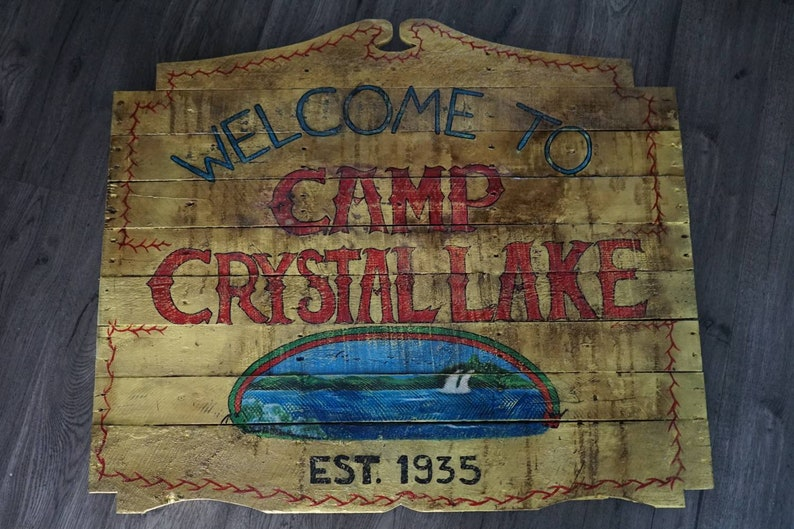 Crystal lake outdoor sign