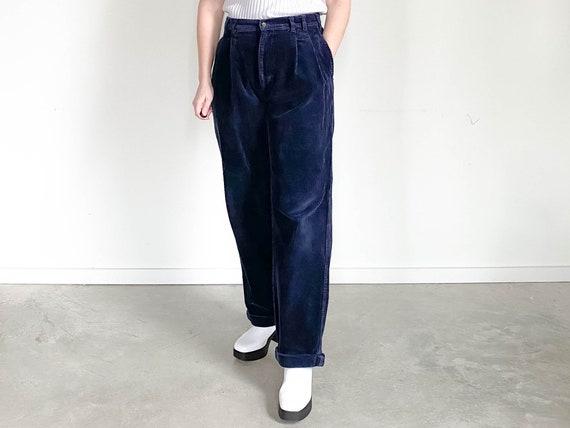 Vintage Corduroy Trousers – Navy Corduroy Pants –