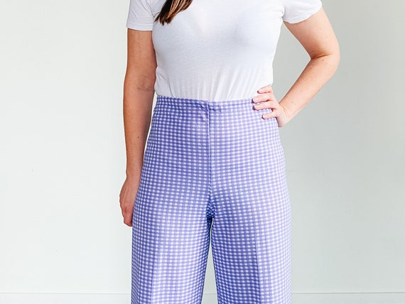 Vintage Gingham Pants ˆ Purple Checkered Pants – … - image 2
