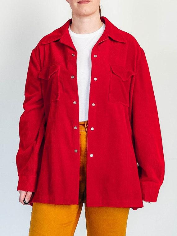 Vintage Corduroy Jacket - Corduroy Chore Coat - Un