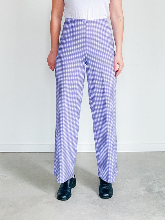 Vintage Gingham Pants ˆ Purple Checkered Pants – … - image 7