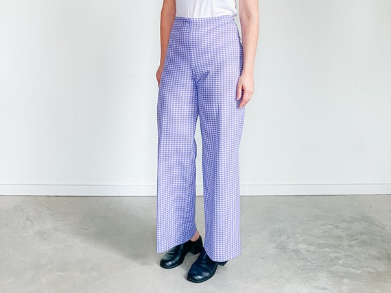 Vintage Gingham Pants ˆ Purple Checkered Pants – … - image 5