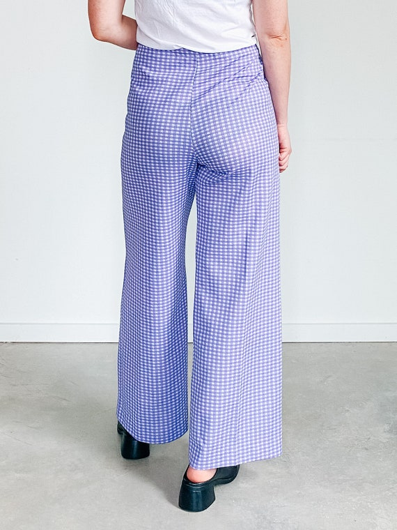 Vintage Gingham Pants ˆ Purple Checkered Pants – … - image 10