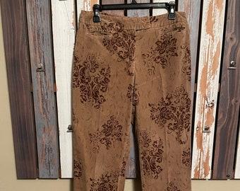Vtg~ Austin Suede Flower Pants