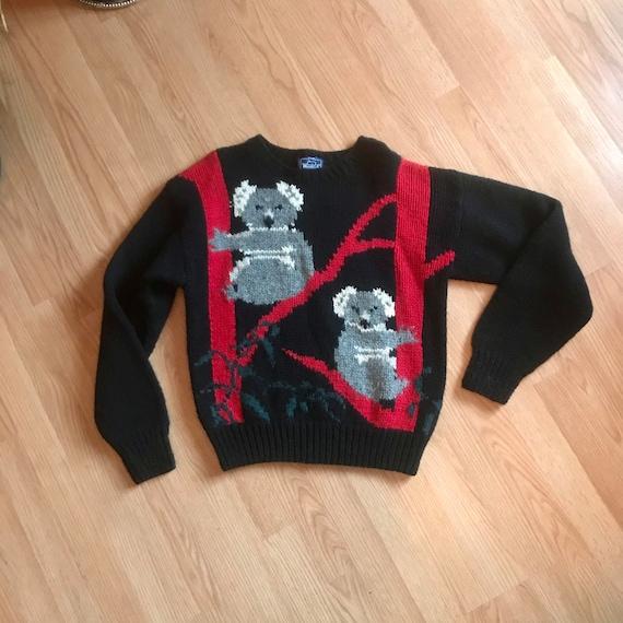 Woolrich Women Koala Bear Wool Sweater Large Princ
