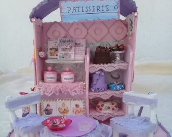 Miniature Dollhouse Room Box Art Garden Party Beraud 19th Century Handmade