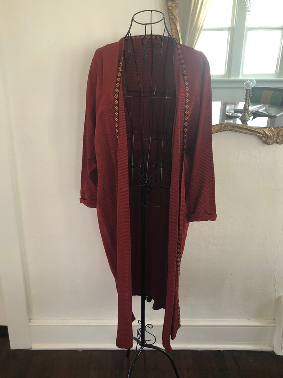 Rust Red Vintage Duster