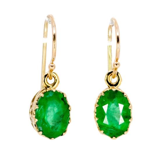 Emerald, Gold Earrings 7414LA