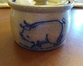 Rowe Pottery 1988 Pig Crock with Lid