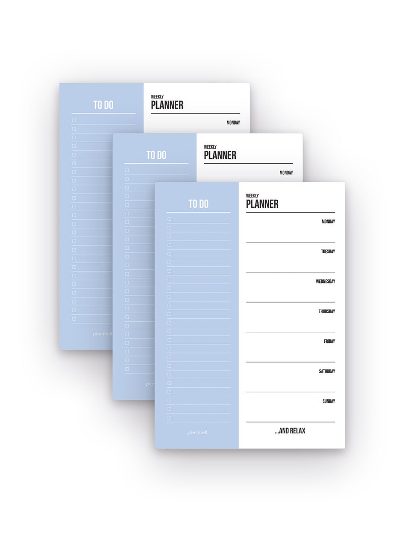 To Do List Block A5 Weekly Planner Notepad 50 Blaetter To Do Block A5 Weekly Planner Notepad