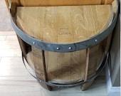 Wine Barrel Half End Table