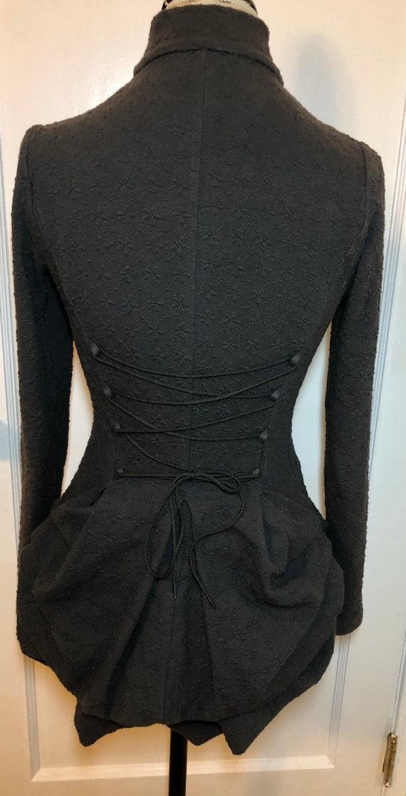 Vintage Betsey Johnson Grey Bustle Corset Cotton B