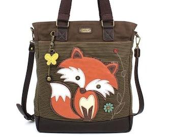 Book Bag Child/'s Gift Fox Oilcloth Tote Bag Reuseable Gift Bag Mini Tote Bag