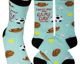 Gameday Sport Socks | Football, Baseball, Soccer, Tennis, Basketball Socks | Socks for Dad, Husband, Mom, Wife, Son, Daughter  | Gift