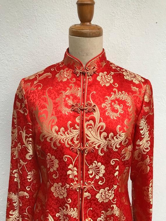 Vintage traditional Chinese jacket vintage Asian j