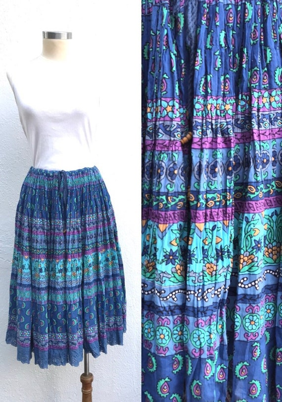 Free size - Vintage Indian skirt vintage festival
