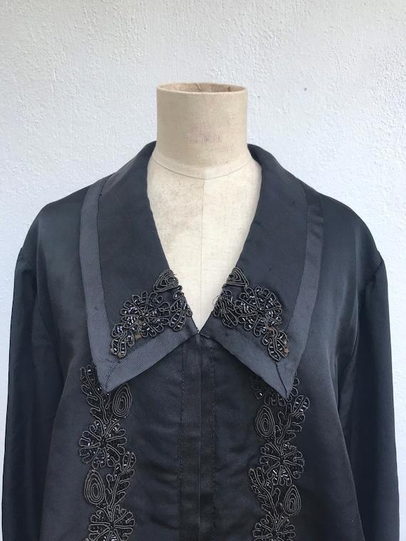 Edwardian jacket vintage black mourning coat Edwar